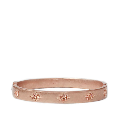 rose gold crystal starburst bangle