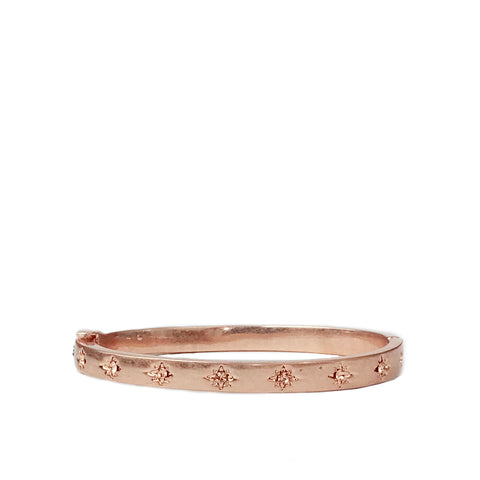 rose gold crystal mini starburst bangle