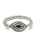 metal beaded evil eye bracelet