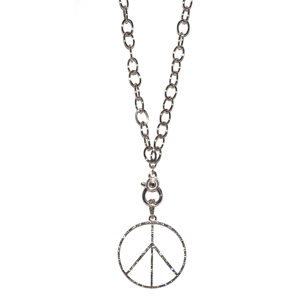 oval metal chain charm necklace for bale charms