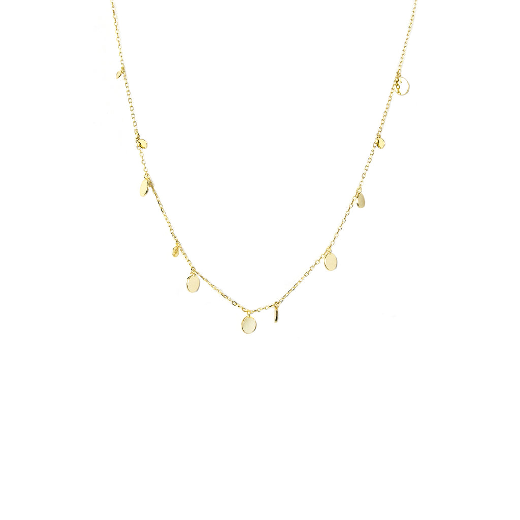 sterling delicate disc necklace