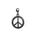 peace sign clasp charm