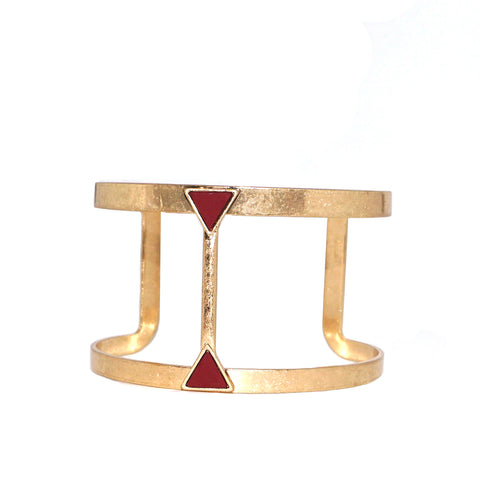 open triangle cuff