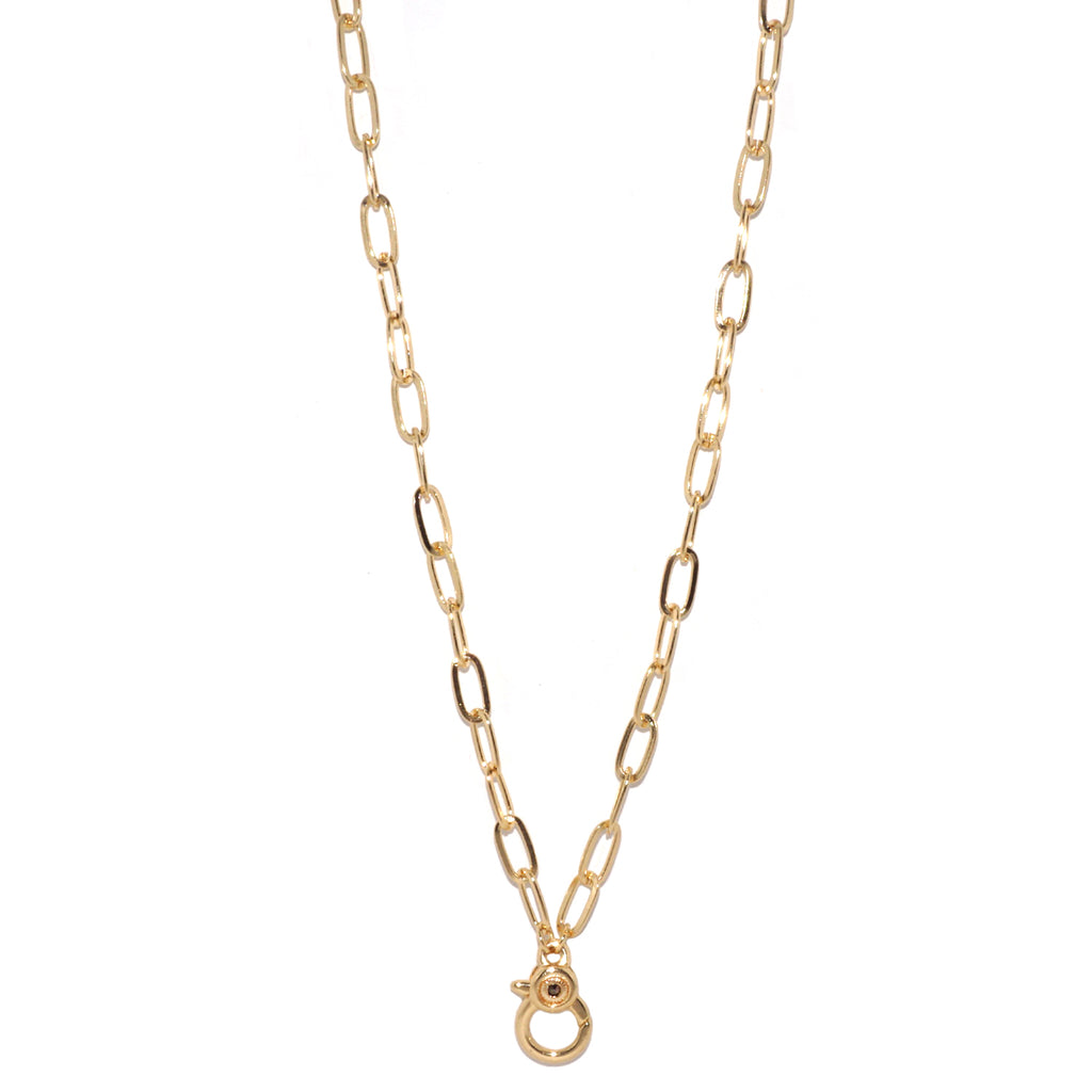 long oval chain charm necklace for bale charms