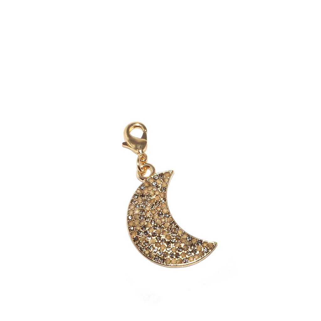 pave moon clasp charm