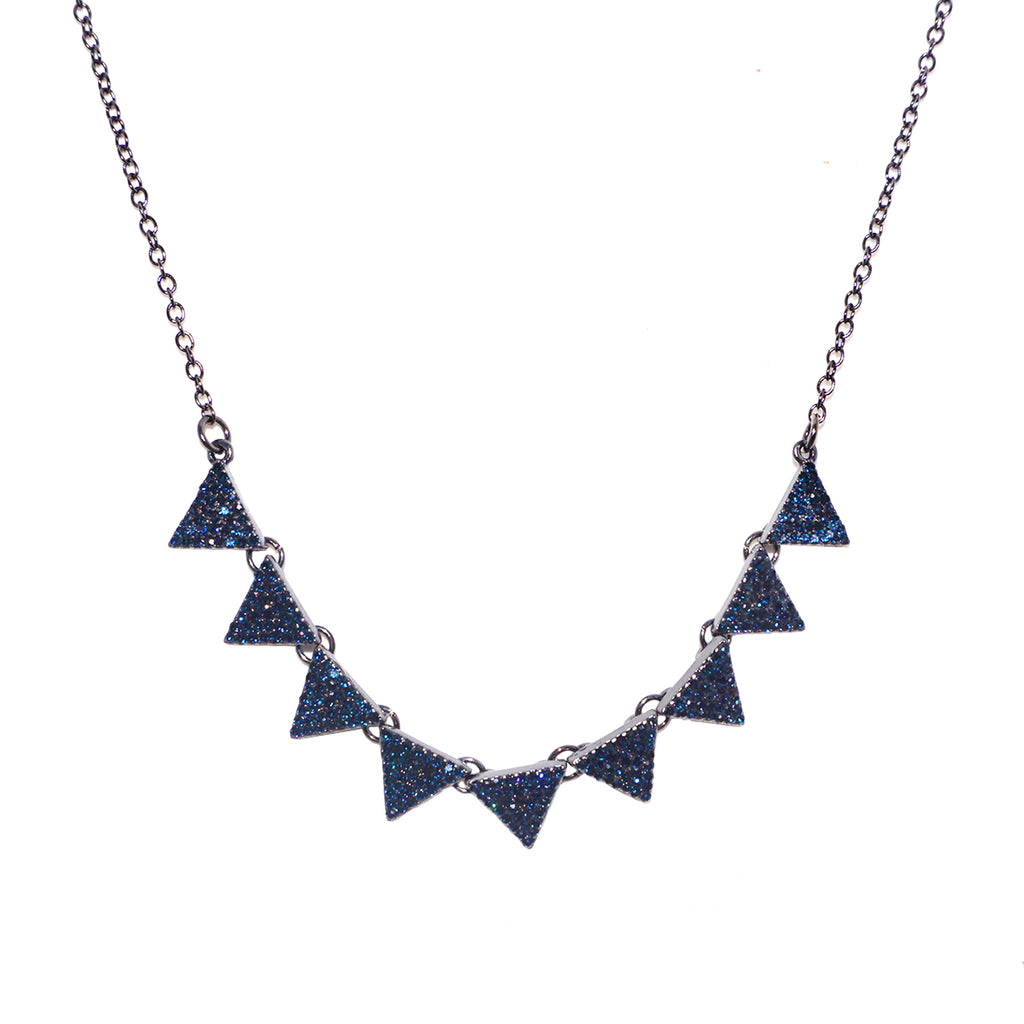 pave multi triangle necklace