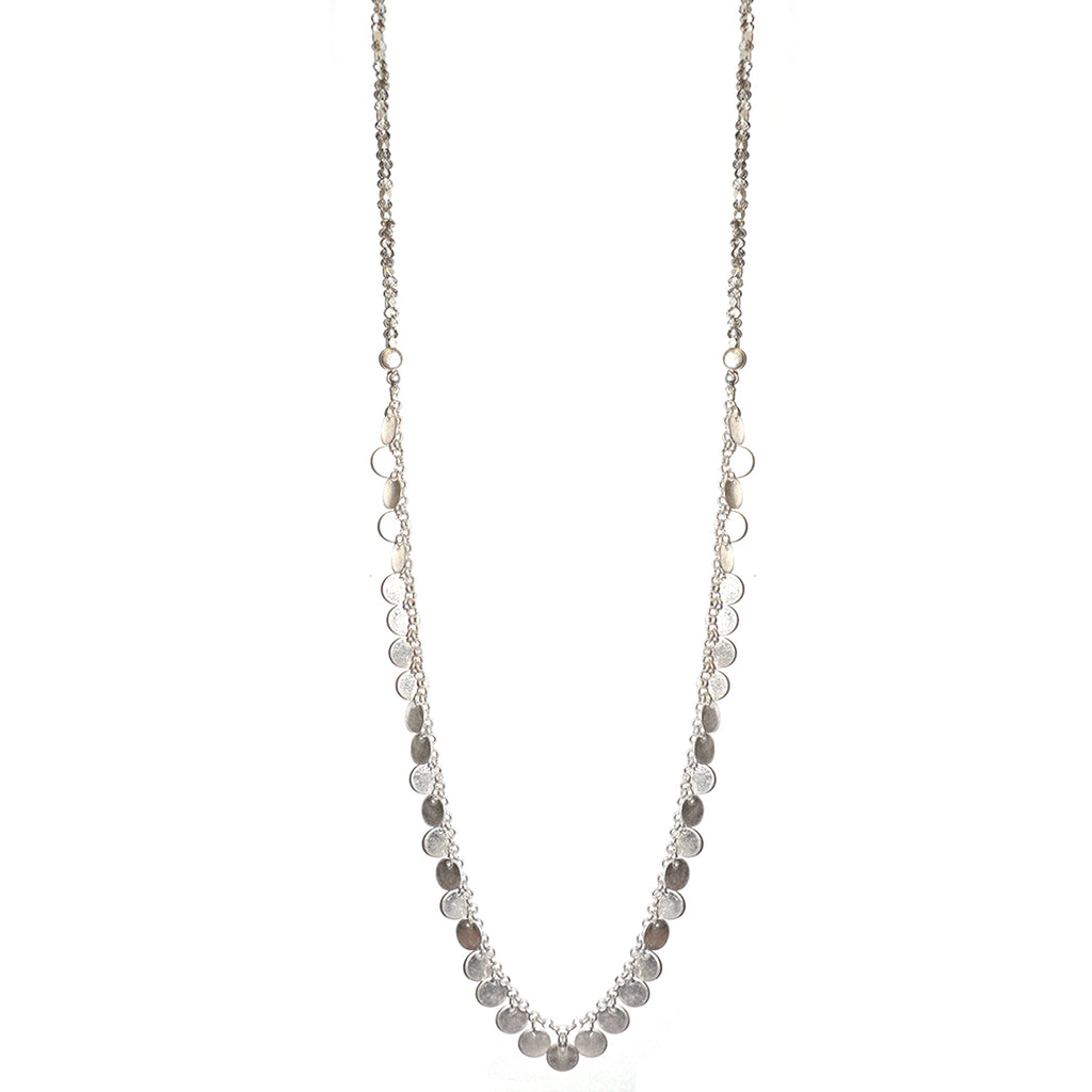 toggle beaded disc necklace