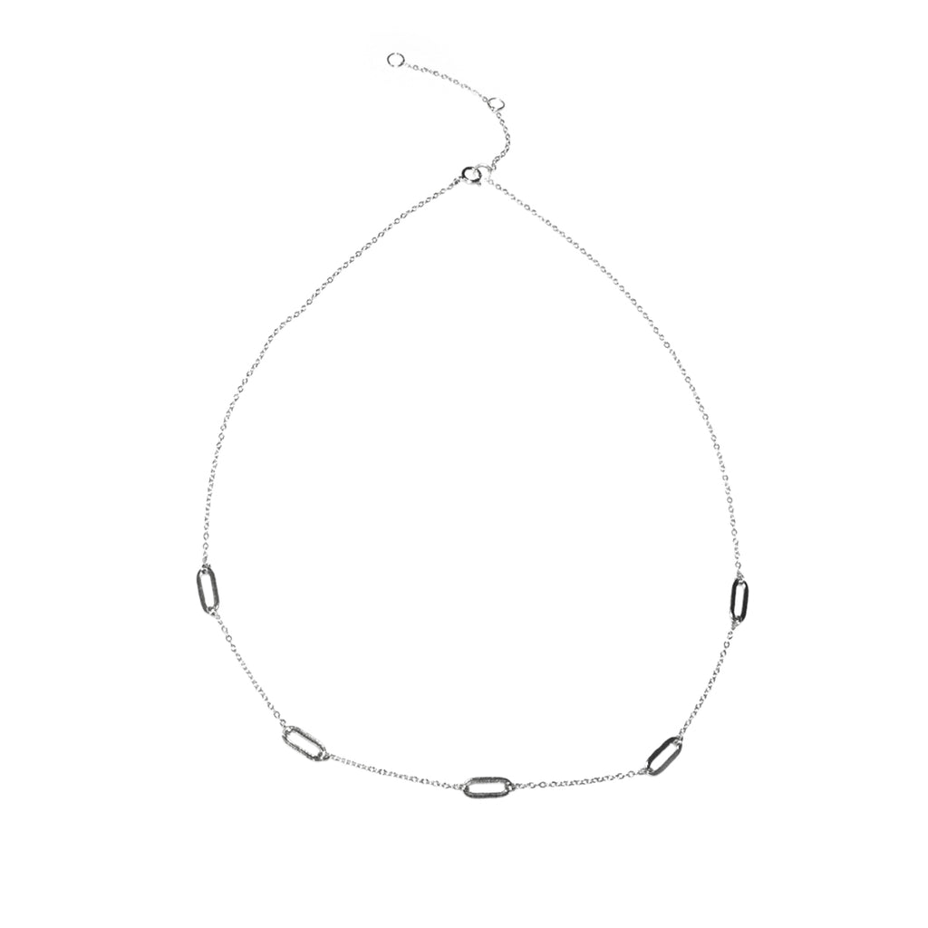sterling multi link necklace
