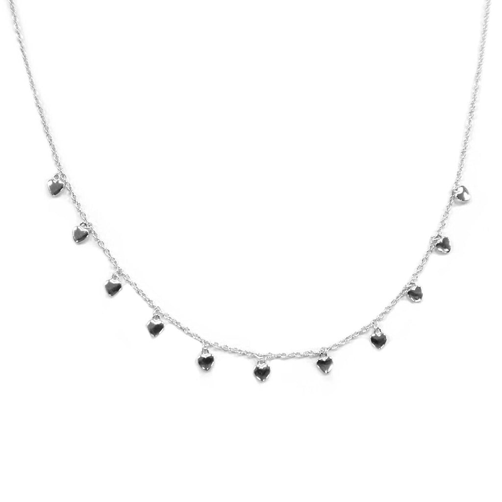 sterling multi heart choker