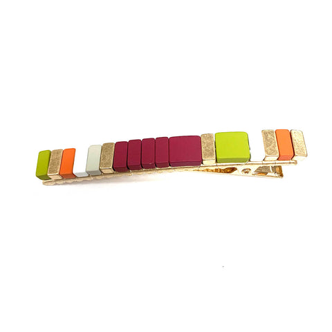 color tiles hair clip