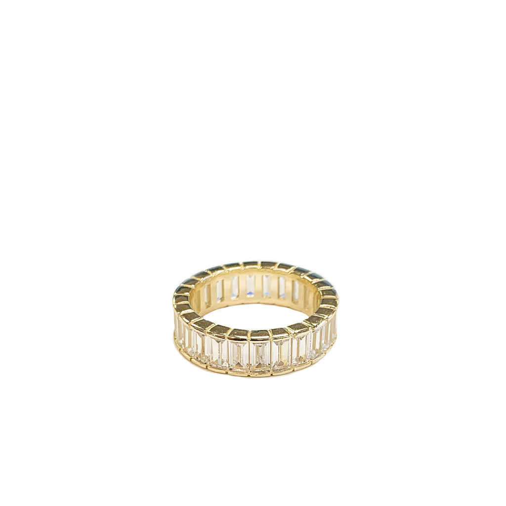 sterling rectangle baguette ring