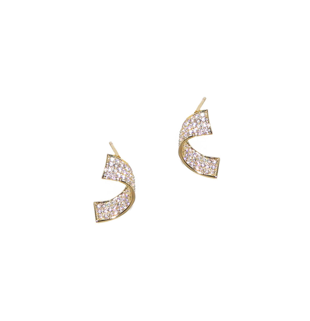 sterling twist earring