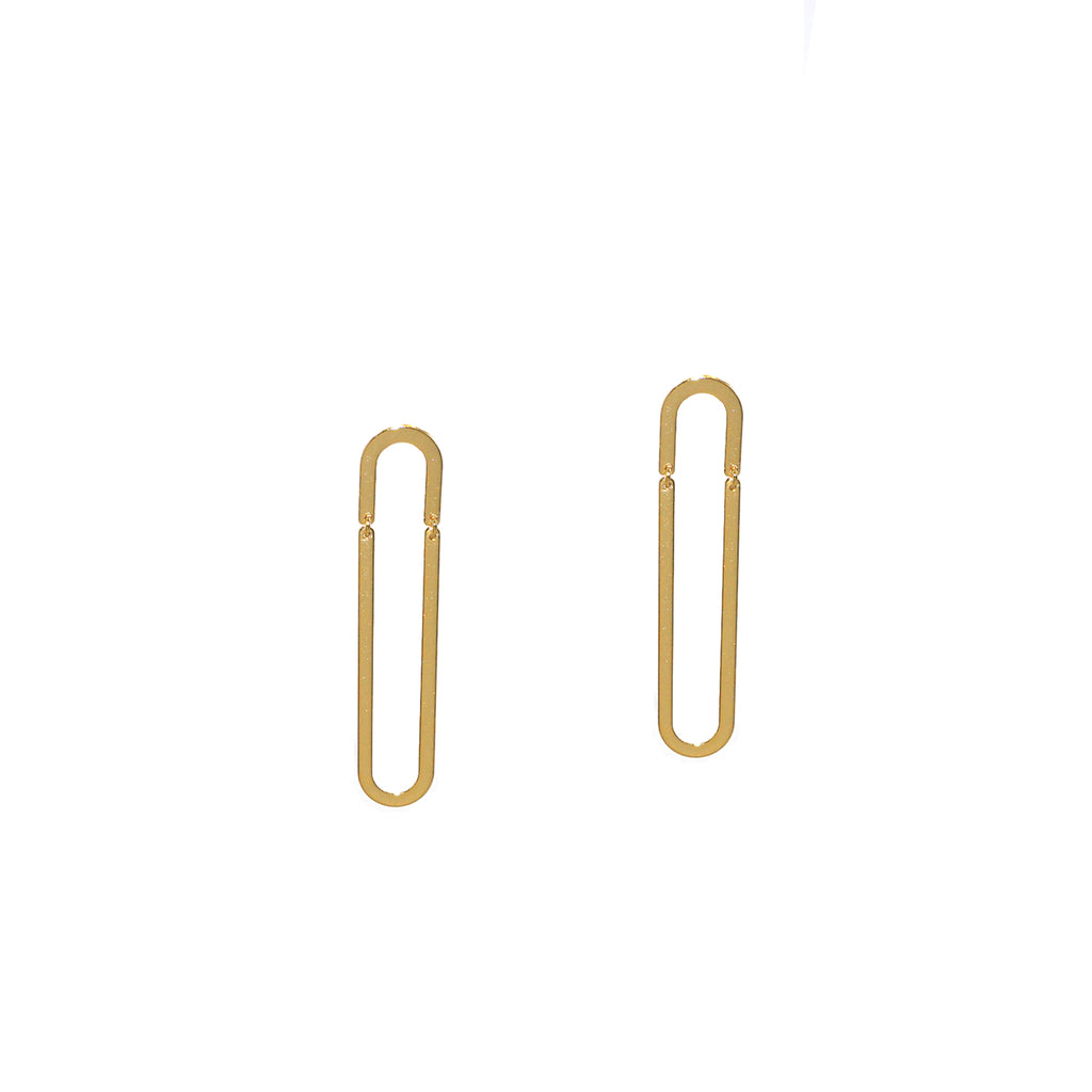 sterling paperclip earring