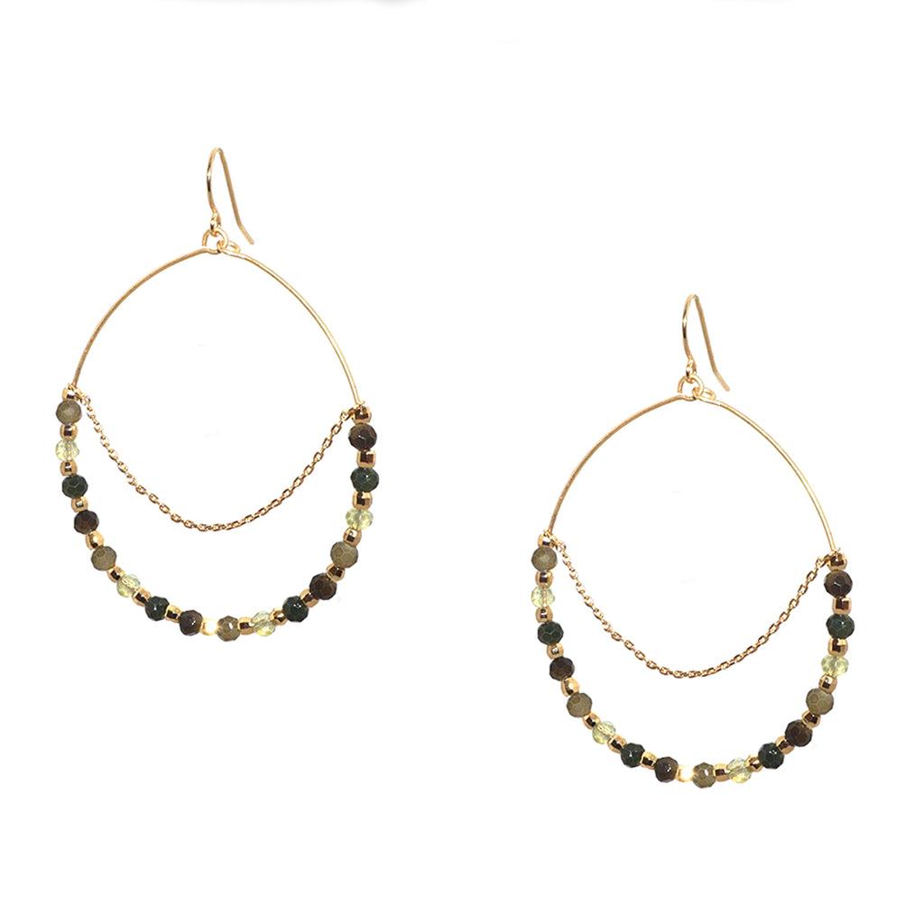 beaded drape earring
