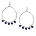 large enamel disc bead earring