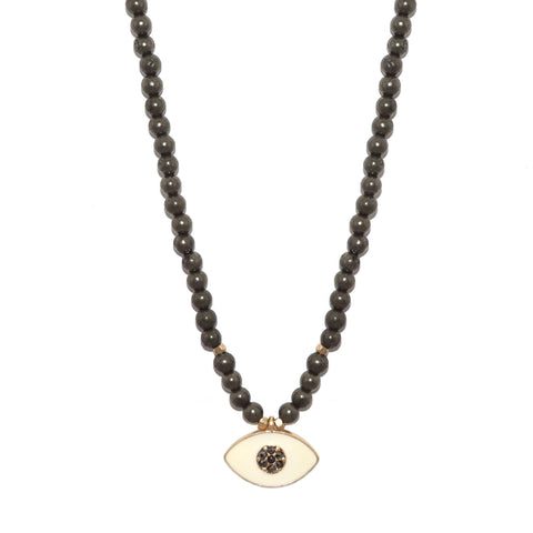 adjustable enamel evil eye necklace