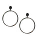 large tri-circle drop earring
