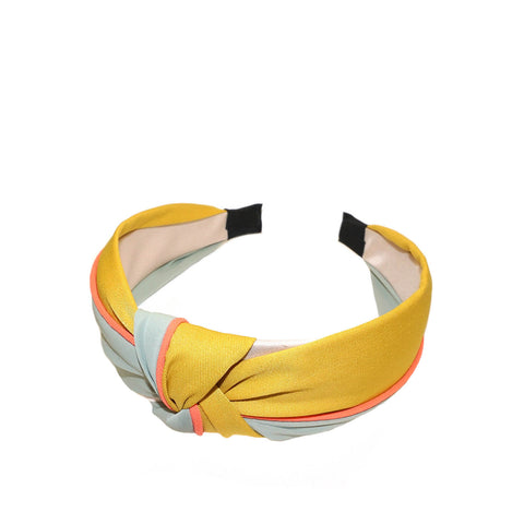 colorblock top knot headband