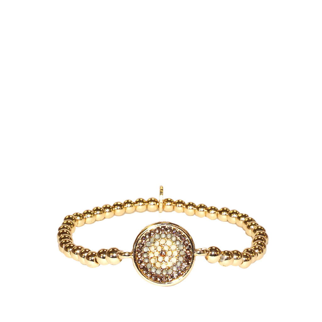 cz pressed disc stretch bracelet