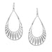 open teardrop feather design earring