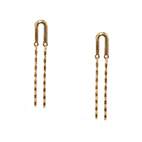 double strand curve post earring