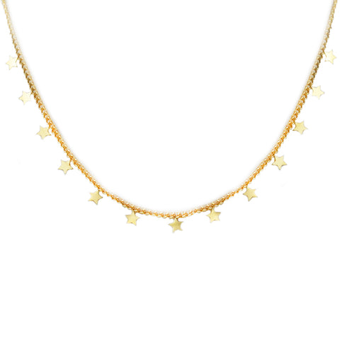 multi mini star necklace