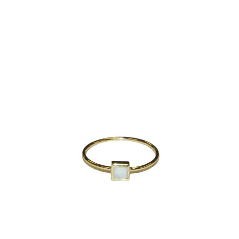 sterling iridescent square ring