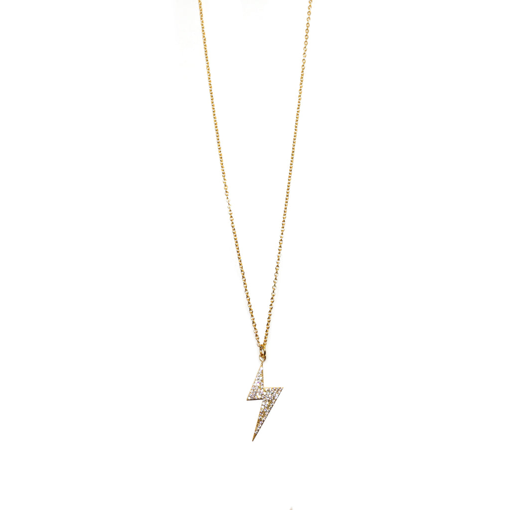 sterling hanging lightning bolt necklace