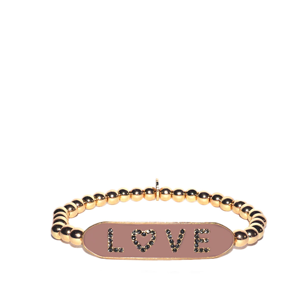 enamel LOVE stretch bracelet