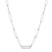 single pave link necklace
