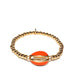enamel puka shell stretch bracelet