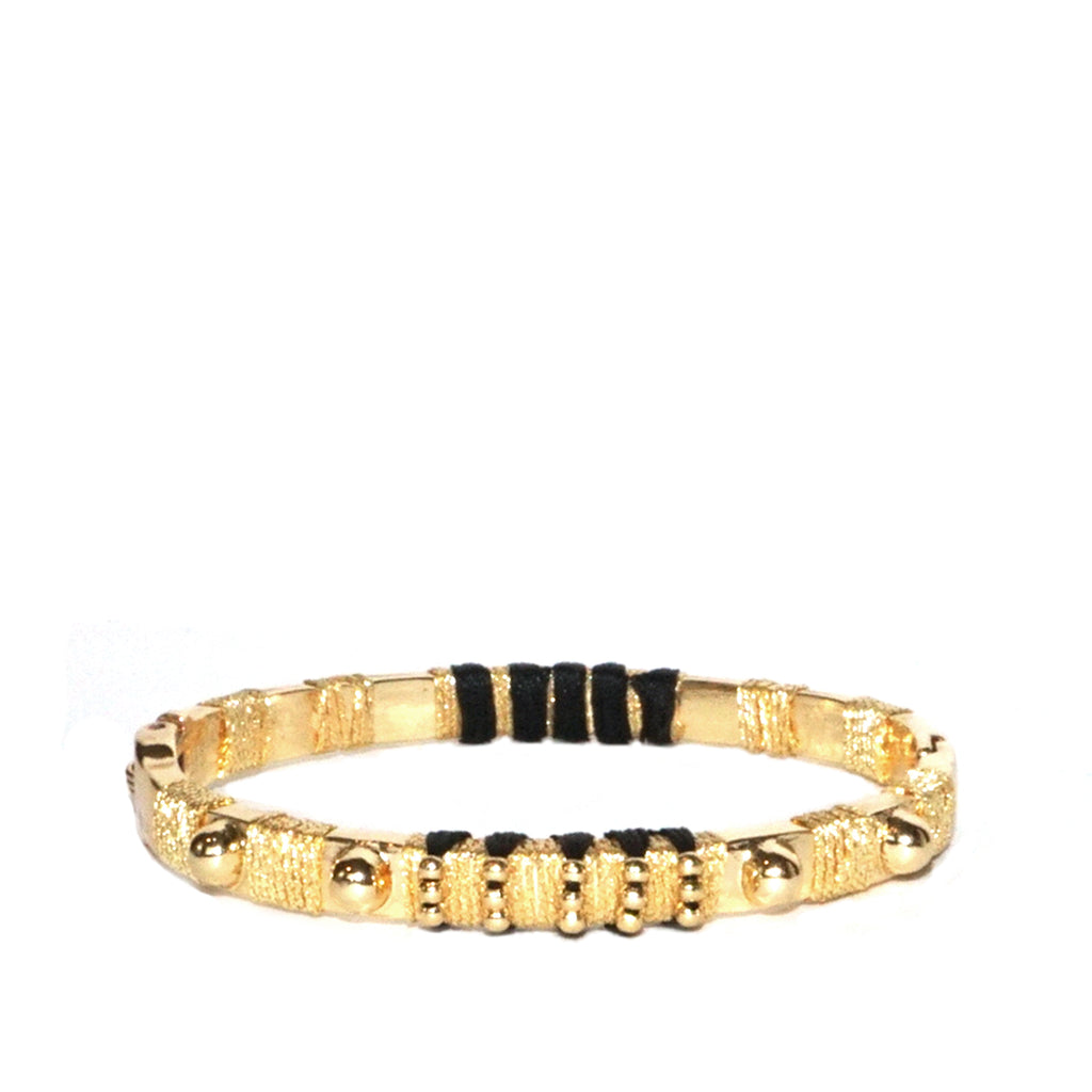 metal stud threaded bangle