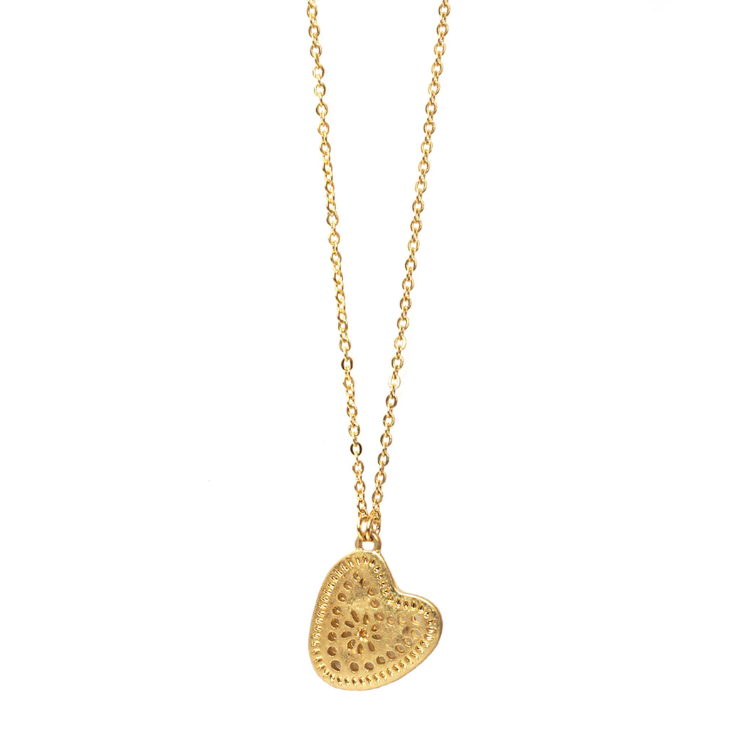 cut out heart necklace