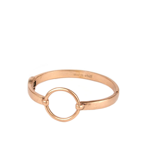 rose gold circle metal bangle