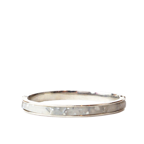 metal lucite bangle