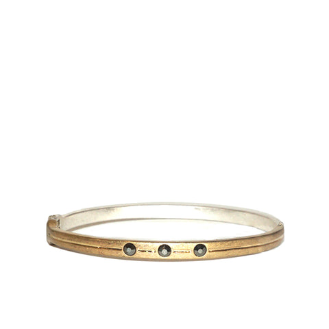 tri-crystal skinny bangle