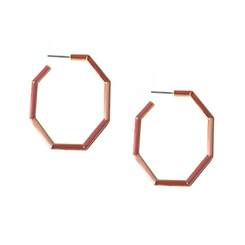 enamel color block hoop