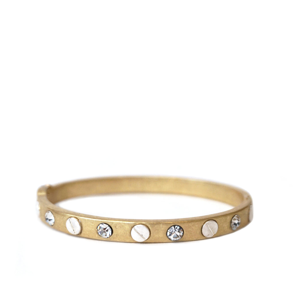 nail-head gemstone bangle
