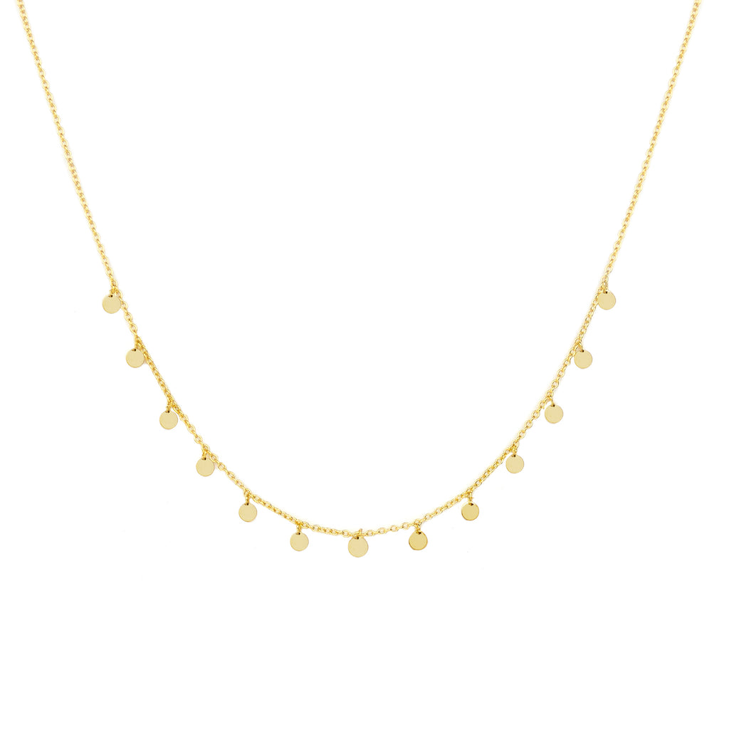 sterling delicate disc choker