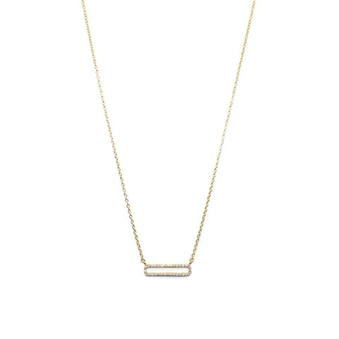 sterling cz link necklace