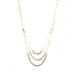 tri-layer crystal chain link necklace