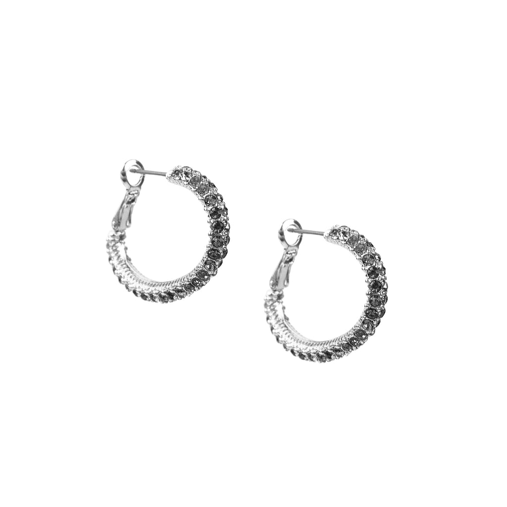 pave forward oval hoop
