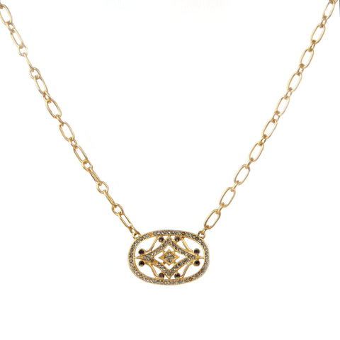 pave vintage design necklace