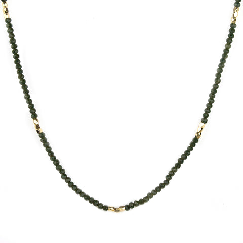 crystal beaded short necklace