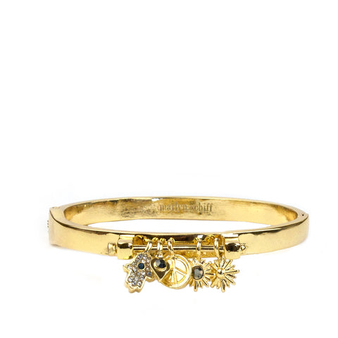 pave multicharm bar bangle