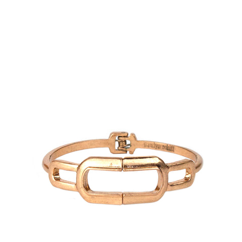 rose gold cutout link bangle
