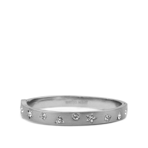 pave multi shape bangle