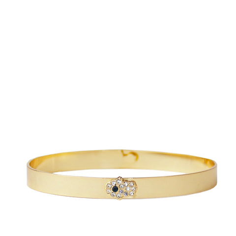 pave hamsa notch bangle