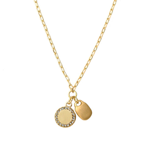 disc & tag necklace