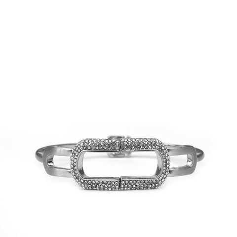 pave cutout link bangle